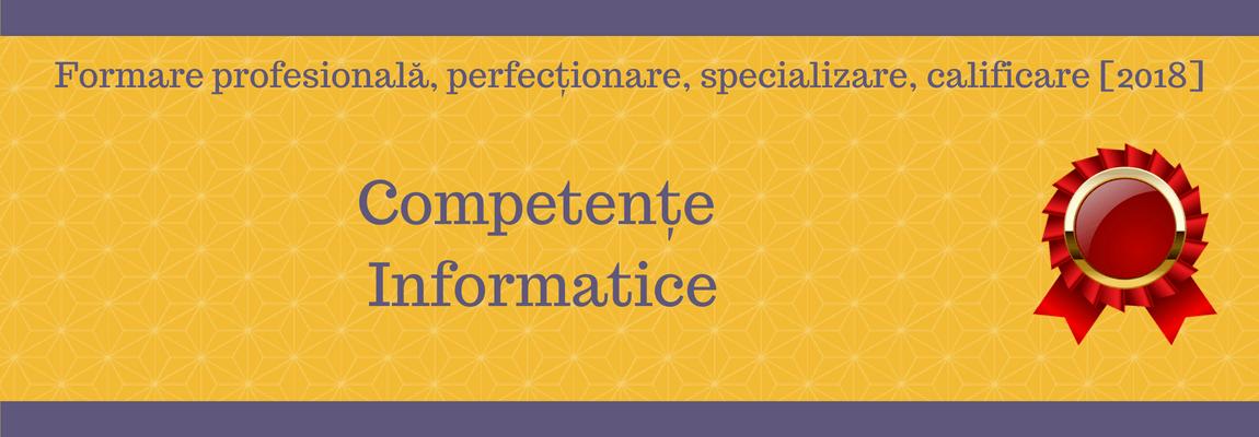 Competente Informatice