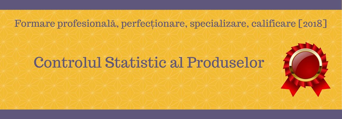 Controlul Statistic al Produselor