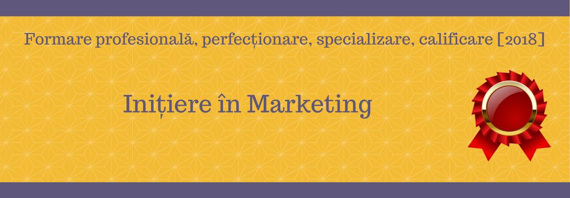 Inițiere în Marketing