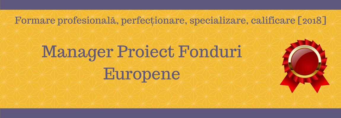 manager proiect fonduri europene